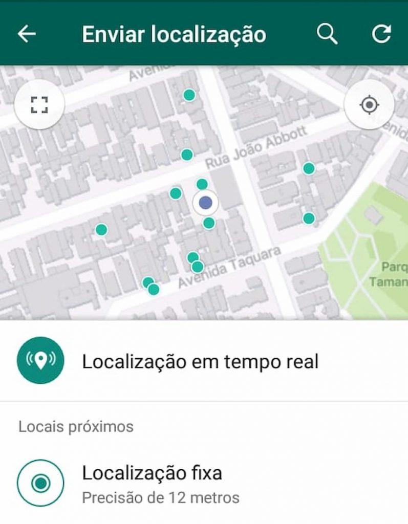 Localização em tempo real e fixa
